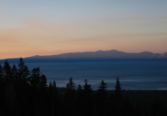 Sunset over Lake Tahoe