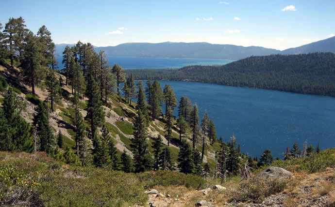 Fallen Leaf Lake, Lake Tahoe in the distance